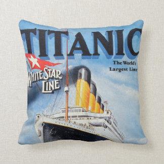 Titanic White Star Line Poster Cushion