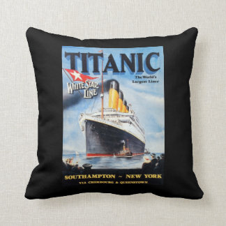 Titanic White Star Line - World's Largest Liner Cushion