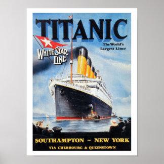 Titanic White Star Line - World's Largest Liner Poster