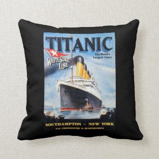 Titanic White Star Line - World's Largest Liner Throw Pillow