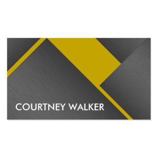 Titanium and gold bold angles business cards