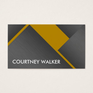 Titanium and orange bold angles business cards