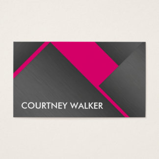 Titanium and pinkbold angles business cards