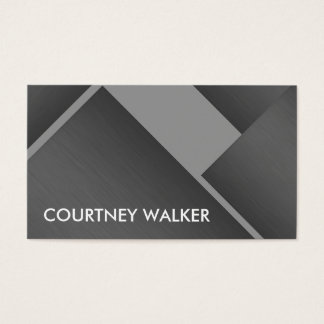 Titanium and silver bold angles business cards