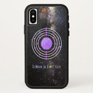 Titanium Atom Science is for Girls iPhone X Case