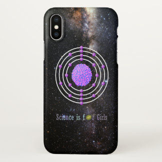 Titanium Atom Science is for Girls iPhone X Case