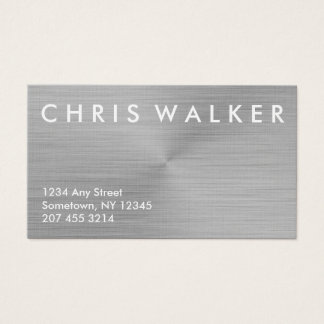 Titanium brushed metal texture business cards