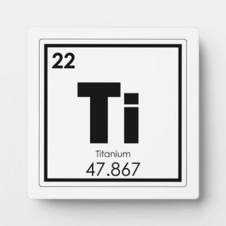 Titanium chemical element symbol chemistry formula plaque