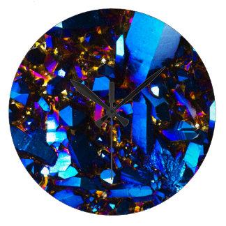 Titanium Cobalt Blue Quartz Large Clock