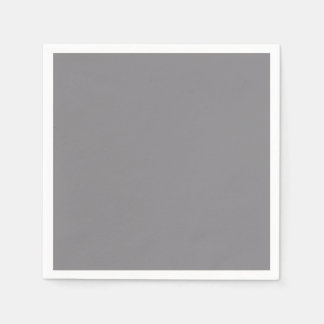 Titanium Gray Grey Color Trend Background Disposable Napkins