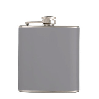 Titanium Gray Grey Color Trend Background Hip Flask