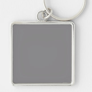 Titanium Gray Grey Color Trend Background Silver-Colored Square Key Ring