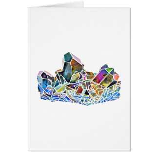 Titanium Quartz Healing Crystal Art Rainbow Aura Card