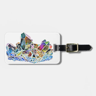 Titanium Quartz Healing Crystal Art Rainbow Aura Luggage Tag