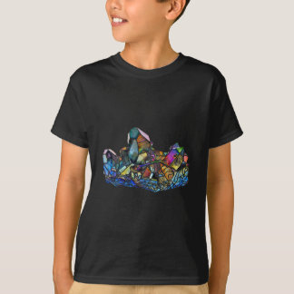 Titanium Quartz Healing Crystal Art Rainbow Aura T-Shirt