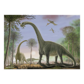 Titanosaur Argentinosaurus Poster