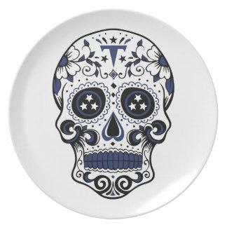Titans Sugar Skull Dinner Plate
