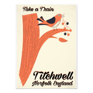 Titchwell Norfolk Beach travel poster