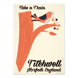 Titchwell Norfolk Beach travel poster Photographic Print