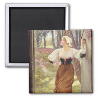 Tithe in Kind (w/c on paper) Square Magnet