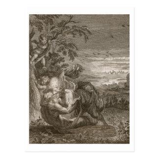 Tithonus, Aurora's Husband, Turned into a Grasshop Postcard