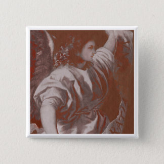 Titian Annunciation Angel with Banner 15 Cm Square Badge
