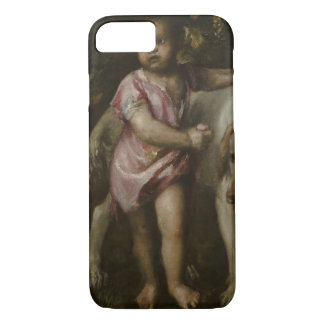 Titian - Boy with Dogs in a Landscape iPhone 7 Case