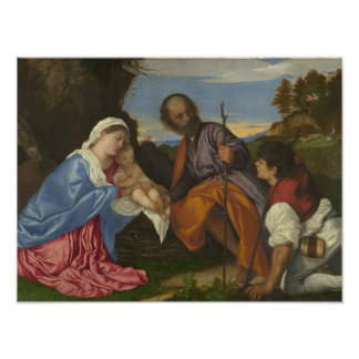 Titian - The Holy Family with a Shepherd Art Photo