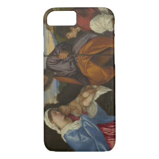Titian - The Holy Family with a Shepherd iPhone 7 Case