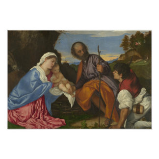 Titian - The Holy Family with a Shepherd Photo Print