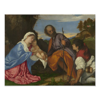 Titian - The Holy Family with a Shepherd Photograph