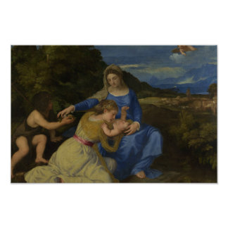 Titian - The Virgin and Child with the Infant Poster