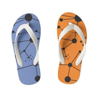 Titik Garis One - Flip Flops, Kids Dual color Kid's Thongs