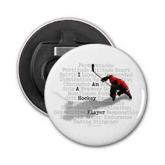 Title I am a Hockey Player Bottle Opener