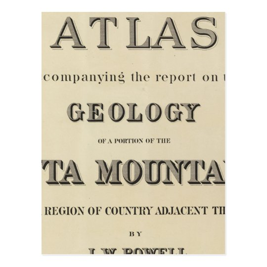 Title Page Atlas accompanying the report Postcard