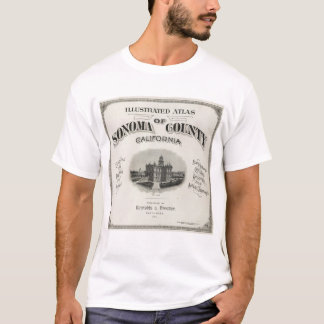 Title Page Atlas Sonoma County, California T-Shirt