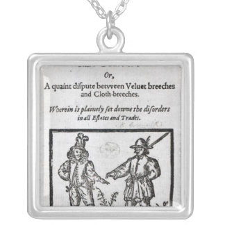 Title page for 'A Quip for an Upstart Courtier' Silver Plated Necklace