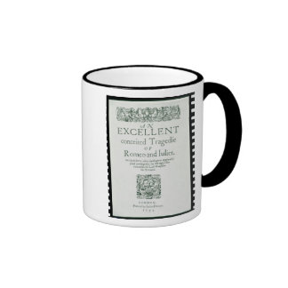 Title Page from 'Romeo and Juliet' Ringer Mug