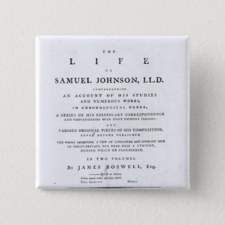 Title page, from 'The Life of Samuel Johnson' 15 Cm Square Badge