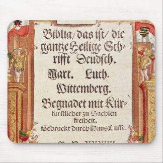 Title page from the Luther Bible, c.1530 Mouse Pad