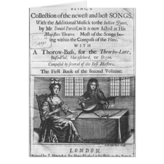 Title page of 'Deliciae Musicae' Card