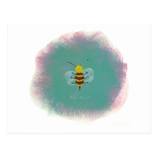 Titled:  Big Stinger - Fun risque bee art! Postcard