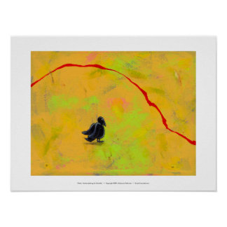 Titled:  Contemplating My Mortality - crow raven Poster