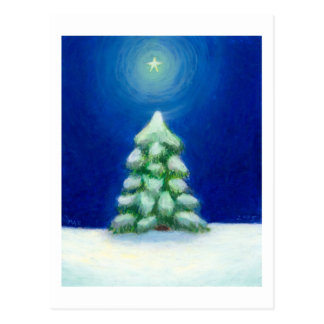 Titled:  December 25th  -  Christmas tree Postcard