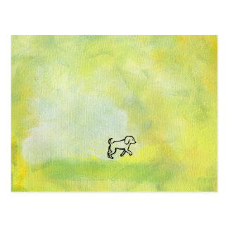 Titled:  Digger - fun dog art Postcard