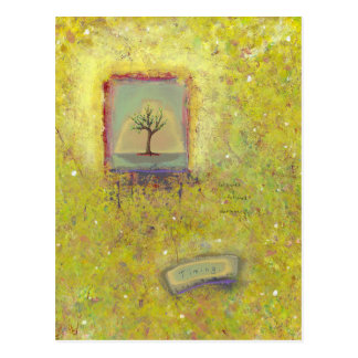 Titled:  (In Motion) Timing - growth tree Spring Postcard