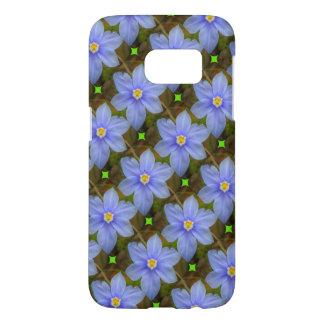 Titled Purple Flower Samsung Galaxy Case
