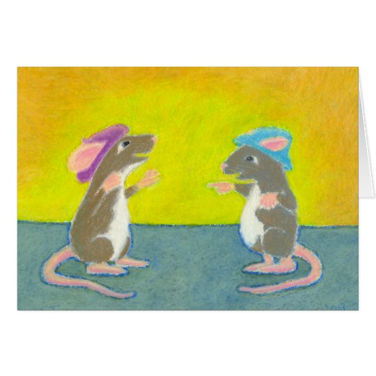 Titled:  Rats in Hats - Fun happy PERSONALIZED Card