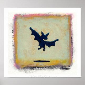 Titled:  Ritual Dance  ~  Symbolic bat Posters