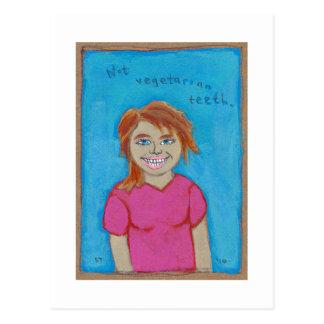 Titled: Some Girls Still Eat Meat - carnivore art Postcard